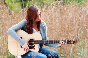 Senior Portrait with guitar by Bonnie Burman