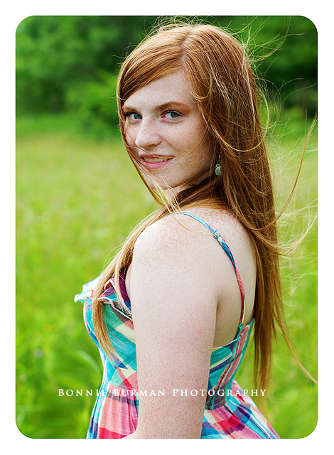 Slippery Rock High School senior portrait spokesmodel