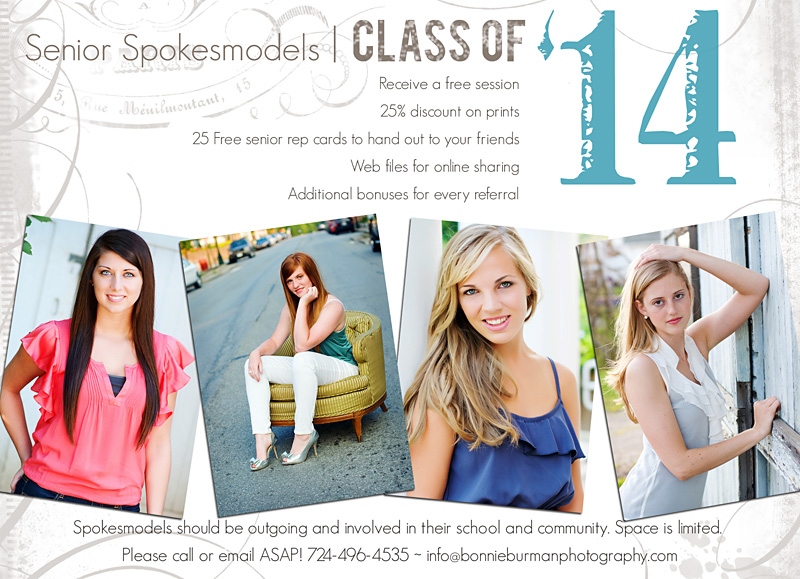 Pittsburgh Senior Portrait Studio seeking senior reps